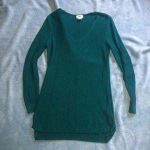Tunic sweater emerald green